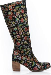 Kozaki Zapato w stylu boho przed kolano