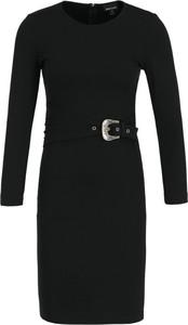 Czarna sukienka Just Cavalli z długim rękawem w stylu casual
