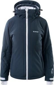 Granatowa kurtka Hi-Tec w sportowym stylu narciarska krótka