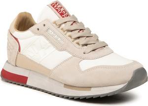Buty sportowe Napapijri sznurowane ze skóry