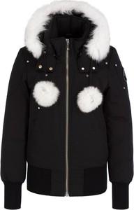 Czarna kurtka Moose Knuckles w stylu casual krótka