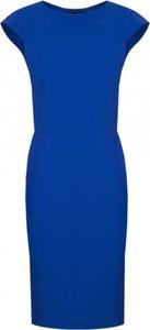 Niebieska sukienka Kasia Miciak design ołówkowa