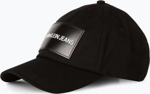 Czarna czapka Calvin Klein ze skóry