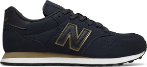 Granatowe buty sportowe New Balance z płaską podeszwą sznurowane