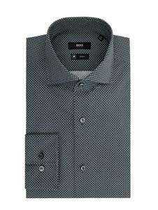 Koszula Boss z bawełny z włoskim kołnierzykiem