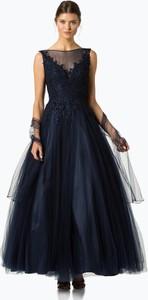 Niebieska sukienka Luxuar Fashion maxi z dekoltem w łódkę bez rękawów