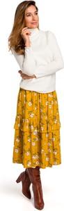 Żółta spódnica Style w stylu boho z tkaniny