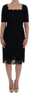 Czarna sukienka Dolce & Gabbana z krótkim rękawem