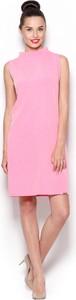 Różowa sukienka Figl z golfem
