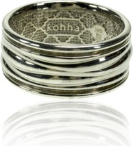 Kohha Obrączka srebrna Baltic White