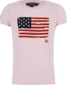 Różowa koszulka dziecięca POLO RALPH LAUREN z krótkim rękawem