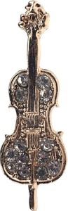 Em Men`s Accessories Wpinka do butonierki złote skrzypce EM 11