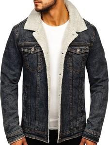 Czarna kurtka Denley z jeansu w młodzieżowym stylu