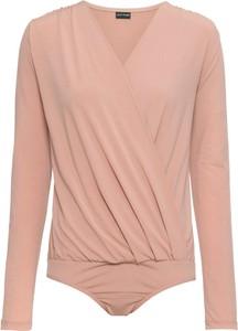 Różowa bluzka bonprix BODYFLIRT z dżerseju z długim rękawem