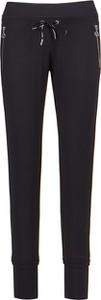 Czarne spodnie Sportalm w sportowym stylu z dresówki