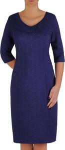 Niebieska sukienka POLSKA midi
