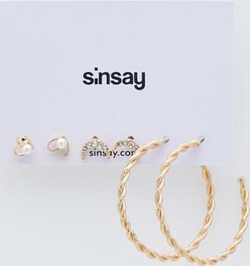 Sinsay - Zestaw 3 par kolczyków - Złoty
