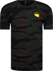 T-shirt G-Star Raw w militarnym stylu z krótkim rękawem