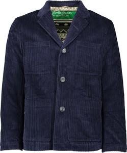 Granatowa kurtka United Colors Of Benetton w stylu casual krótka