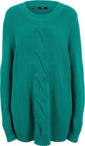 Turkusowy sweter bonprix bpc bonprix collection
