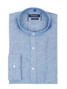 Niebieska koszula McNeal ze stójką