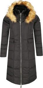 Czarny płaszcz Marciano w stylu casual