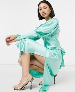 Niebieska sukienka Asos midi