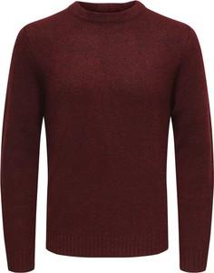 Sweter Only & Sons z okrągłym dekoltem z wełny