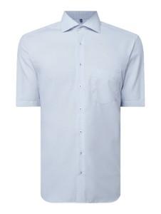 Niebieska koszula Eterna z krótkim rękawem