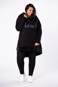 Czarna tunika Moda Dla Ciebie z dresówki