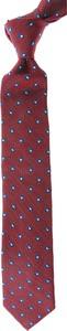 Bordowy krawat Belvest