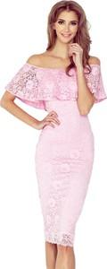 Różowa sukienka MORIMIA midi hiszpanka