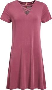 Fioletowa sukienka khujo mini w stylu casual