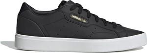 Czarne trampki Adidas ze skóry