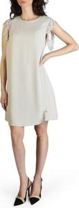 Sukienka Yes Zee mini z okrągłym dekoltem bez rękawów