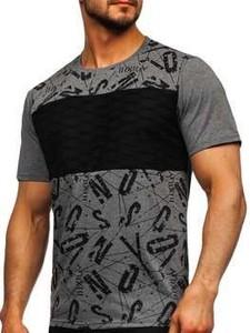 T-shirt Denley z krótkim rękawem w młodzieżowym stylu z bawełny