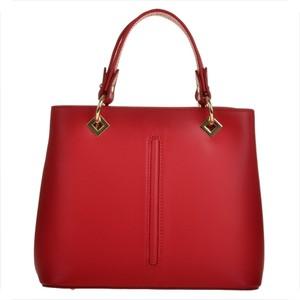 Borse in pelle elegancka czerwona torebka skórzana l