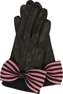 Rękawiczki Emporio Armani ze skóry