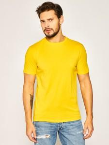 Żółty t-shirt Hugo Boss