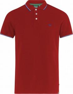 Czerwona koszulka polo Duke Of London z tkaniny z krótkim rękawem