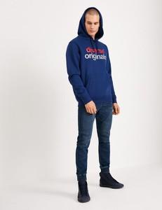 Granatowa bluza Diverse z bawełny w młodzieżowym stylu
