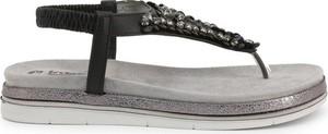 Czarne sandały Inblu w stylu casual na niskim obcasie