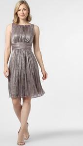 Srebrna sukienka Swing z okrągłym dekoltem