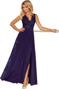 Sukienka NUMOCO rozkloszowana z dekoltem w kształcie litery v