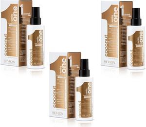Revlon Zestaw Uniq One - kuracja kokosowa do włosów 10 w 1 150ml x3 - Wysyłka w 24H!
