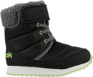 Czarne buty dziecięce zimowe reebok