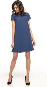 Sukienka Tessita z krótkim rękawem mini z tkaniny