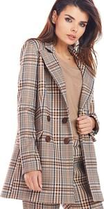 Brązowy płaszcz Awama w stylu casual