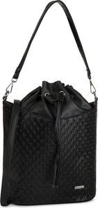 Czarna torebka Wittchen na ramię średnia w stylu casual
