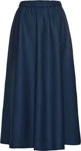 Błękitna bluzka bonprix BODYFLIRT z dekoltem w kształcie litery v w stylu casual z długim rękawem